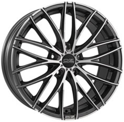 186041 OZ ITG 8018512029 Oz Racing Italia 150 fælg, 8x18 ET29, 120.00/5, Ø79, Matt dark graphite diamond cut OZ Racing