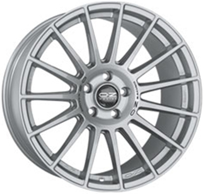 178374 OZ SUD 8520512020 Oz Racing Superturismo Dakar fælg, 8.5x20 ET20, 120.00/5, Ø79, Matt race silver + black lette OZ Racing