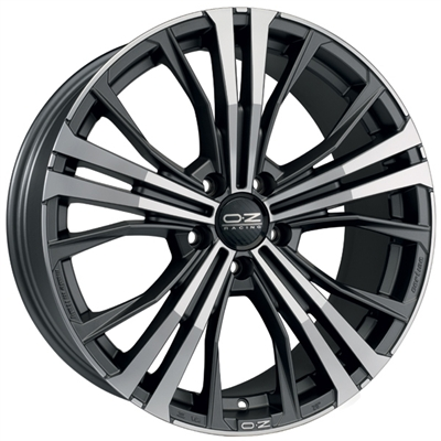 185926 OZ COR 9520511233 Oz Racing Cortina fælg, 9.5x20 ET33, 112.00/5, Ø66.6, Matt dark graphite diamond cut OZ Racing