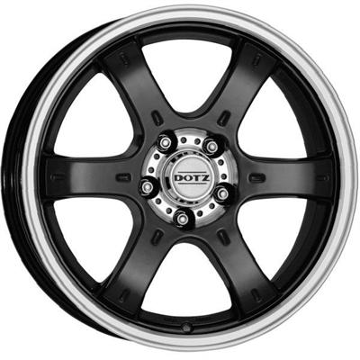 184066 DOT CRU 8016613920 Dotz Crunch  fælg, 8x16 ET20, 139.70/6, Ø106, Black/polished Dotz