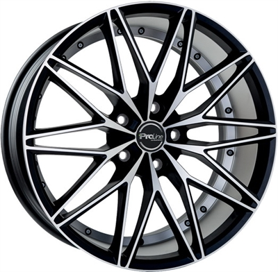 225095 PRL PXE 8018512035B Proline Pxe  fælg, 8x18 ET35, 120.00/5, Ø72.6, black matt polished ProLine