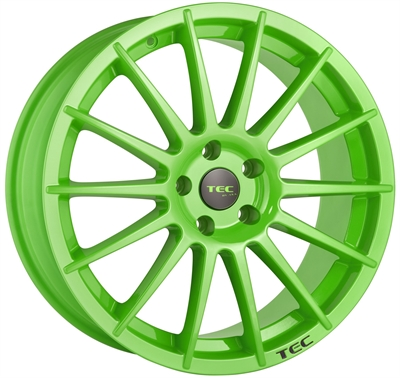 300871 TEC A2E 8519511235E Tec As2  fælg, 8.5x19 ET35, 112.00/5, Ø72.5, race light green TEC by ASA