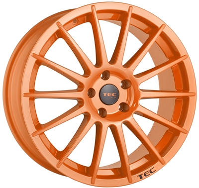 302365 TEC A2O 7517511038D Tec As2  fælg, 7.5x17 ET38, 110.00/5, Ø65, race orange TEC by ASA