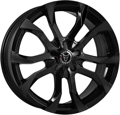 301807 WOL AS2 7016512045B Wolfrace Assassin fælg, 7x16 ET45, 120.00/5, Ø72.6, gloss black Wolfrace