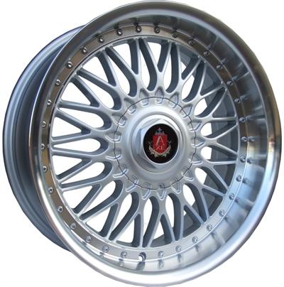 355893 AXE EX1002 901851122 Axe Ex10 fælg, 9x18 ET20, 112.00/5, Ø73, silver - polished lip AXE