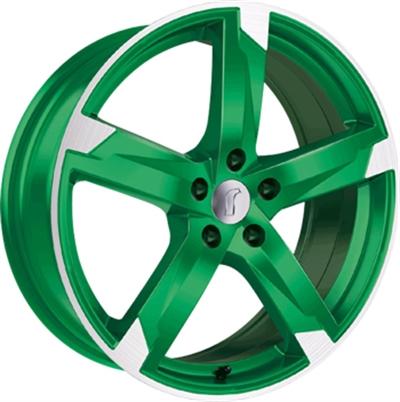 231122 ROD 1RZ 8018512033 Rondell 01rz fælg, 8x18 ET33, 120.00/5, Ø72.6, racing gren polished Rondell