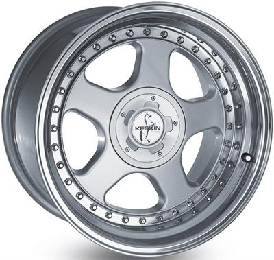 239039 KES 01A 8518511230 Keskin Kt1 Classic fælg, 8.5x18 ET30, 112.00/5, Ø72.6, silver - steel lip Keskin