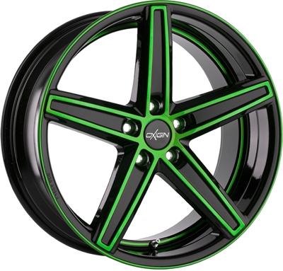 240662 OXI 18W 9020511430 Oxigin 18 Concave fælg, 9x20 ET30, 114.30/5, Ø72.6, neon green polished Oxigin