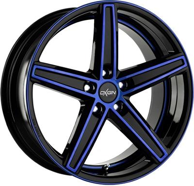 245189 OXI 18M 11521511260 Oxigin 18 Concave fælg, 11.5x21 ET60, 112.00/5, Ø66.6, blue polished Oxigin