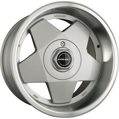 433548 BOR ASI 7015411435B Borbet A fælg, 7x15 ET35, 114.30/4, Ø67, silver polished Borbet