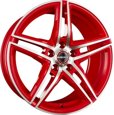 250376 BOR XRT1 8017511245B Borbet Xrt  fælg, 8x17 ET45, 112.00/5, Ø72.5, racetrack red polished Borbet
