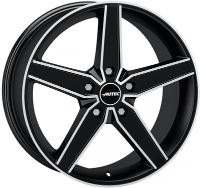 253605 AUT DE1 8520511230 Autec Delano  fælg, 8.5x20 ET30, 112.00/5, Ø70, matt black polished Autec