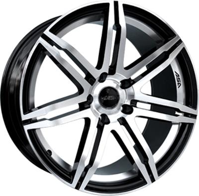 226958 ASA GT22 8519511230 Asa Gt2  fælg, 8.5x19 ET30, 112.00/5, Ø72.5, black polished ASA