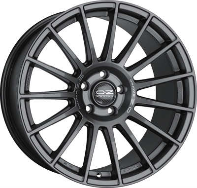 253690 OZ SU2 10021512040B Oz Racing Superturismo Dakar fælg, 10x21 ET40, 120.00/5, Ø79, matt race silver black lettering OZ Racing