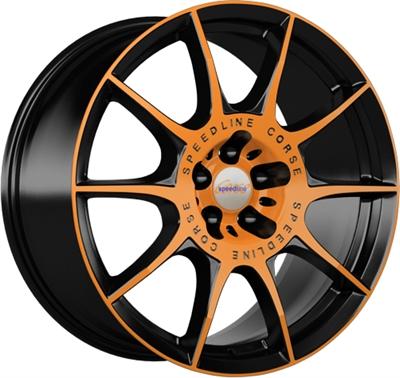 244170 SPE S2D 8018511245B Speedline Sl2  fælg, 8x18 ET45, 112.00/5, Ø76, orange racing - matt black SpeedLine