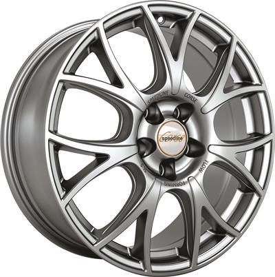 243330 SPE S5B 8018510045B Speedline Sl5 fælg, 8x18 ET45, 100.00/5, Ø68, luster silver SpeedLine