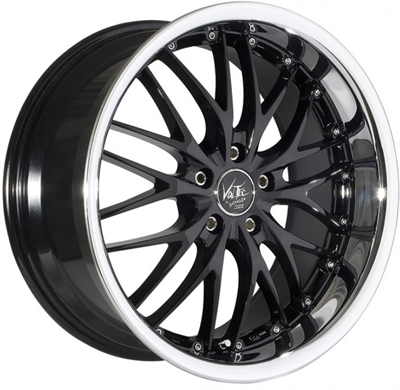 293930 BRC V6B 8019512038 Barracuda Voltec T6 fælg, 8x19 ET38, 120.00/5, Ø72.6, higloss black - inox lip Barracuda