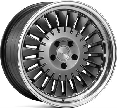 269236 ISP CSR12 9518512040 Ispiri Wheels Csr1d fælg, 9.5x18 ET40, 120.00/5, Ø72.6, carbon graphite - polished lip Ispiri Wheels