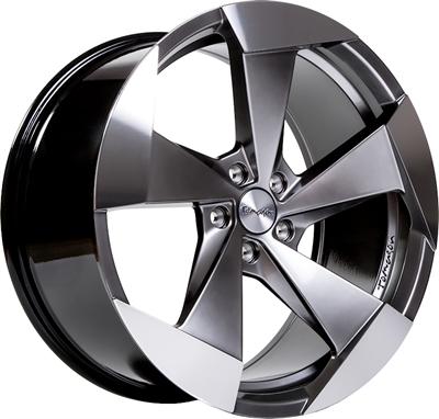 268239 TOM T15 10020512045 Tomason Tn15 fælg, 10x20 ET45, 120.00/5, Ø72.6, hyper black polished Tomason