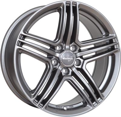 271695 WW 12B 8520511245 Wheelworld Wh12  fælg, 8.5x20 ET45, 112.00/5, Ø66.6, hyper gunmetal WheelWorld