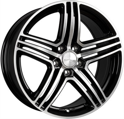 270435 WW 12D 8520511245 Wheelworld Wh12  fælg, 8.5x20 ET45, 112.00/5, Ø66.6, gloss black polished WheelWorld