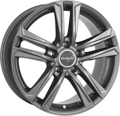 271352 WW 19B 7516511245 Wheelworld Wh19 fælg, 7.5x16 ET45, 112.00/5, Ø66.6, daytona gray WheelWorld