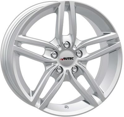 280941 AUT KI1 8017512030 Autec Kitano fælg, 8x17 ET30, 120.00/5, Ø72.6, silver Autec