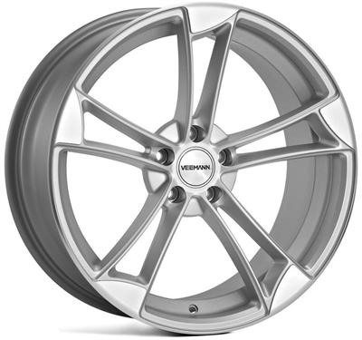 276553 VEE V11 9020511235 Veeman Vm1 fælg, 9x20 ET35, 112.00/5, Ø66.6, satin silver - machined polished face Veeman
