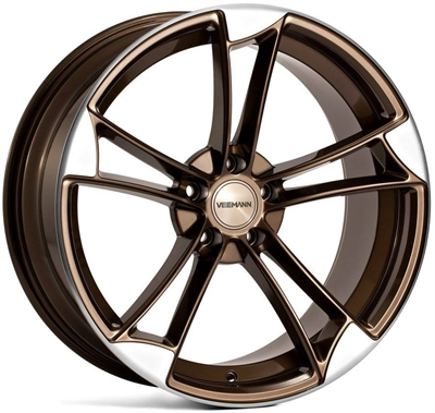 285030 VEE VM1 9020511225B Veeman Vm1 fælg, 9x20 ET25, 112.00/5, Ø66.6, crystal bronze - machined polished face Veeman