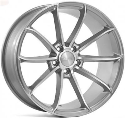 283439 VEE VF8 8519511242 Veeman V-fs18 fælg, 8.5x19 ET42, 112.00/5, Ø66.6, silver machined Veeman