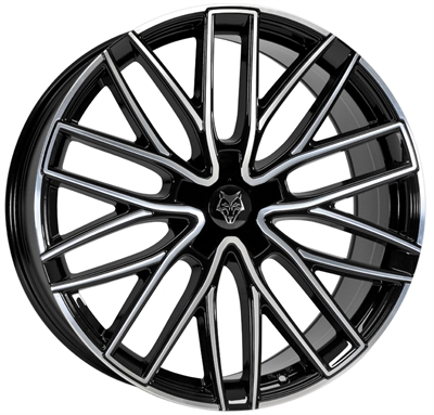 282194 WOD GT4 9020511225 Wolf Design Gtp fælg, 9x20 ET25, 112.00/5, Ø74, black polished Wolf Design