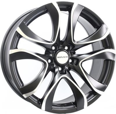 264982 MC BEP 8519511245 Monaco Beaurivage fælg, 8.5x19 ET45, 112.00/5, Ø73, dull black / polish Monaco