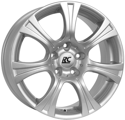 217864 RC RC15 8018512035 Rc Rc15 fælg, 8x18 ET35, 120.00/5, Ø72.6, Crystal silver RC Design
