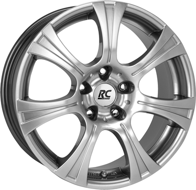 219507 RC RC1501 8018512030 Rc Rc15 fælg, 8x18 ET30, 120.00/5, Ø72.6, Chrome silver RC Design