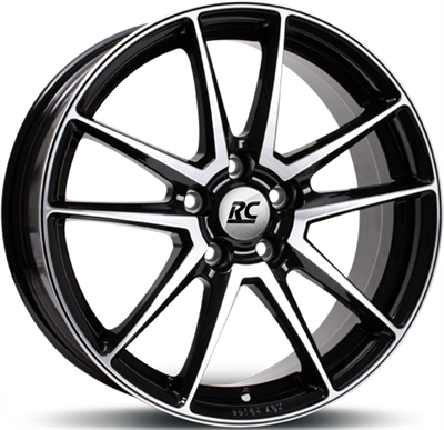 218061 RC RC2201 8018512035 Rc Rc22 fælg, 8x18 ET35, 120.00/5, Ø72.6, Black glossy polished RC Design