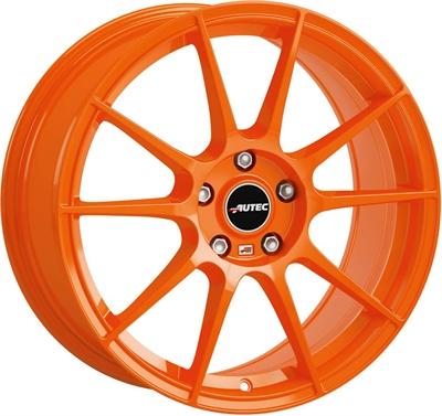 197706 AUT WOR 7517510038 Autec Wizard  fælg, 7.5x17 ET38, 100.00/5, Ø70, Racing orange Autec
