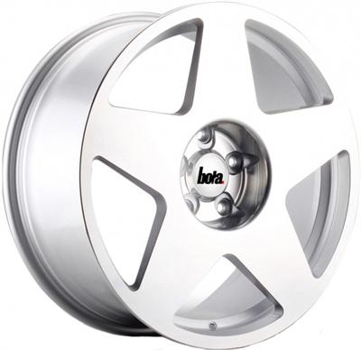 371464 BOA B1013 951951123F Bola B10 fælg, 9.5x19 ET30, 112.00/5, Ø72.6, silver polished Bola