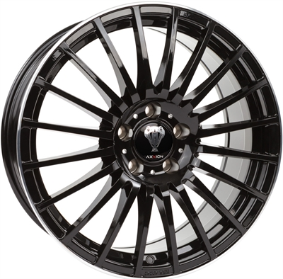 311511 AXX AX5G 8018512038 Axxion Ax5 Excess fælg, 8x18 ET38, 120.00/5, Ø72.6, glossy black - machined lip Axxion