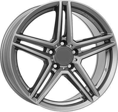 297587 UW M10XG 7517511236 Uniwheels M10x fælg, 7.5x17 ET36, 112.00/5, Ø66.6, metal-grey Rial