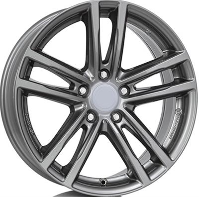 335639 UW X10G 7517511227 Uniwheels X10  fælg, 7.5x17 ET27, 112.00/5, Ø66.6, metal-grey Rial