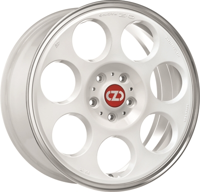 312792 OZ ANNI12 7017409835 Oz Racing Anniversary45 fælg, 7x17 ET35, 98.00/4, Ø58, race white - diamond lip OZ Racing