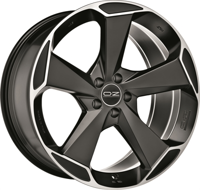 317370 OZ ASPE 8520511245 Oz Racing Aspen Hlt fælg, 8.5x20 ET45, 112.00/5, Ø79, matt black polished OZ Racing