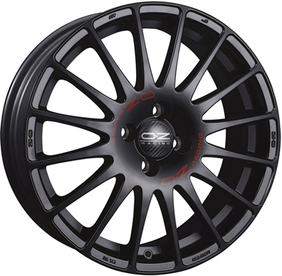 317385 OZ SUPE14 7018410820 Oz Racing Superturismo Gt fælg, 7x18 ET20, 108.00/4, Ø65, matt black OZ Racing