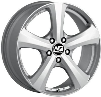 320036 MSW 19GR 8018511231 Msw 19   fælg, 8x18 ET31, 112.00/5, Ø66.6, grey silver MSW