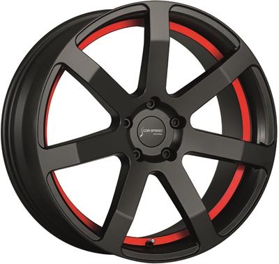 319047 CSP CHAL3 8520512038 Cor.speed Challenge fælg, 8.5x20 ET38, 120.00/5, Ø72.6, puresports - undercut color trim red Cor.Speed