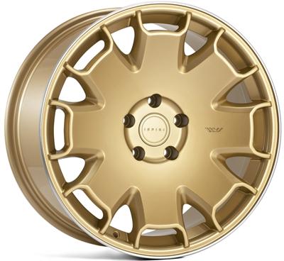 322533 ISP CSR22 9519512033 Ispiri Wheels Csr2 fælg, 9.5x19 ET33, 120.00/5, Ø72.6, vintage gold - polished lip Ispiri Wheels