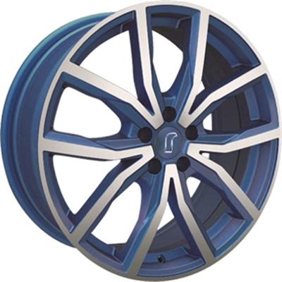 313484 ROD 02RZ 8017512030 Rondell 02rz fælg, 8x17 ET30, 120.00/5, Ø72.6, blue matt polished Rondell