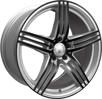 324050 ROD DESI14 85195112B Rondell Design 0217 fælg, 8.5x19 ET32, 112.00/5, Ø70.3, silver - glossy black polished Rondell