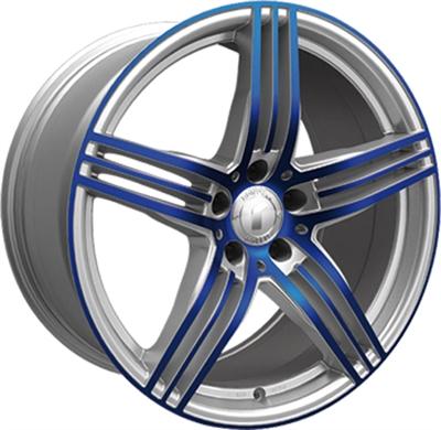 324880 ROD DESI21 95195120B Rondell Design 0217 fælg, 9.5x19 ET39, 120.00/5, Ø72.6, silver - glossy blue polished Rondell