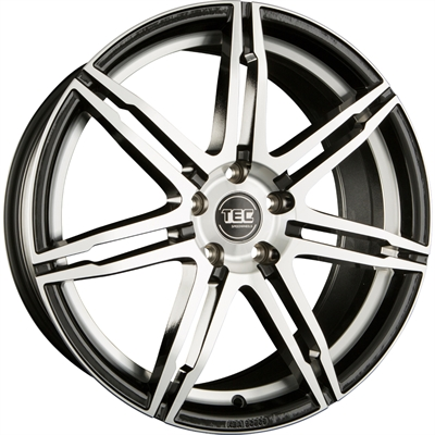 314235 TEC GT2E1 7517512045 Tec By Asa Gt2 Evo fælg, 7.5x17 ET45, 120.00/5, Ø72.6, black - polished TEC by ASA